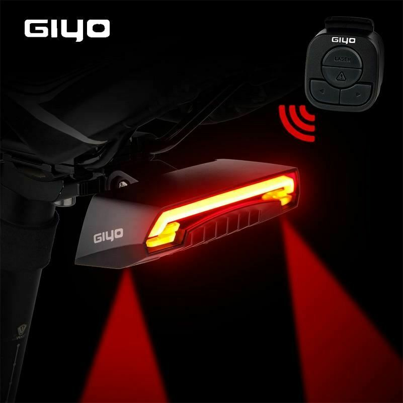 Battery Bicycle Light USB Rechargeable Mount Lamp Rear Tail Led Turn Signals Cyc