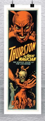 Thurston The Great Magician Vintage Magic Poster Canvas Giclee Print 17x45 in.