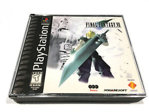 ❤️Final Fantasy VII 7 PS1 PlayStation 1 PSX PSOne NO Manual Black Label RARE