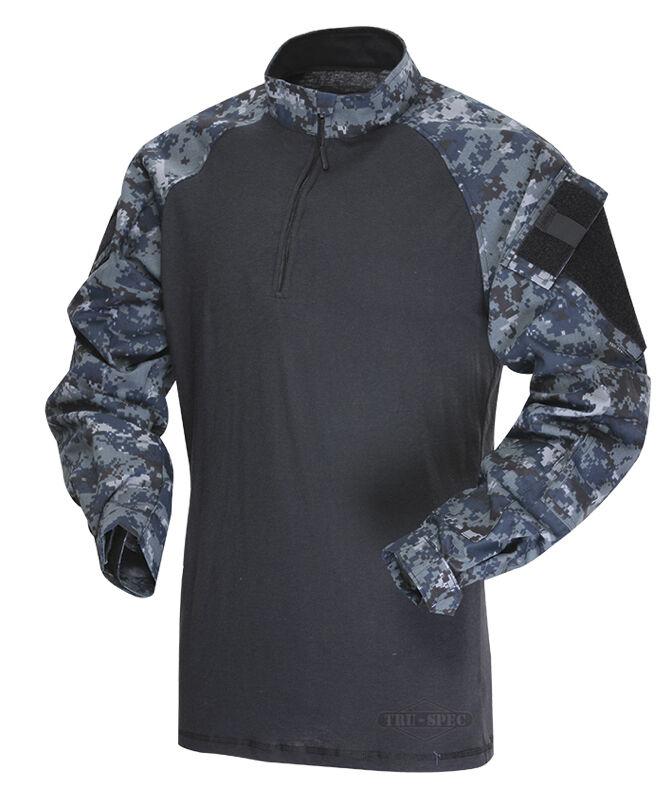 1 4 Zip Tactical Combat Shirt by TRU-SPEC 2571- MIDNIGHT DIGITAL - Free Shipping