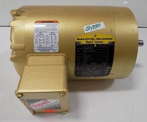 Baldor reliance 75hp 1750rpm super e motor venm3542 for Baldor reliance super e motor