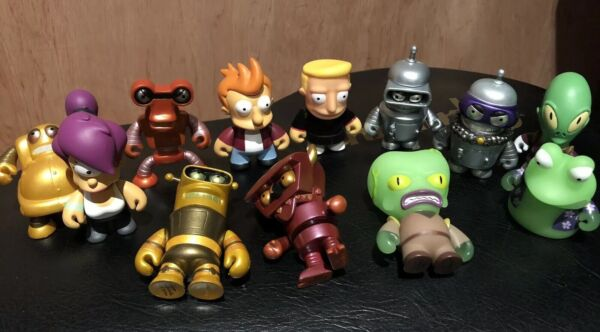 12x Kidrobot Futurama Vinyl Figure Universo X Slurms, Robot Devil, Calculon Ecc. Morbido E Antislipore