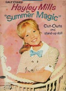 VINTAGE UNCUT 1963 HAYLEY MILLS SUMMER MAGIC PAPER DOLLS~#1 REPRODUCTION SELLER!
