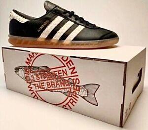 Adidas ORIGINALS Mens HAMBURG Trainers Shoes Black & White / Size ...