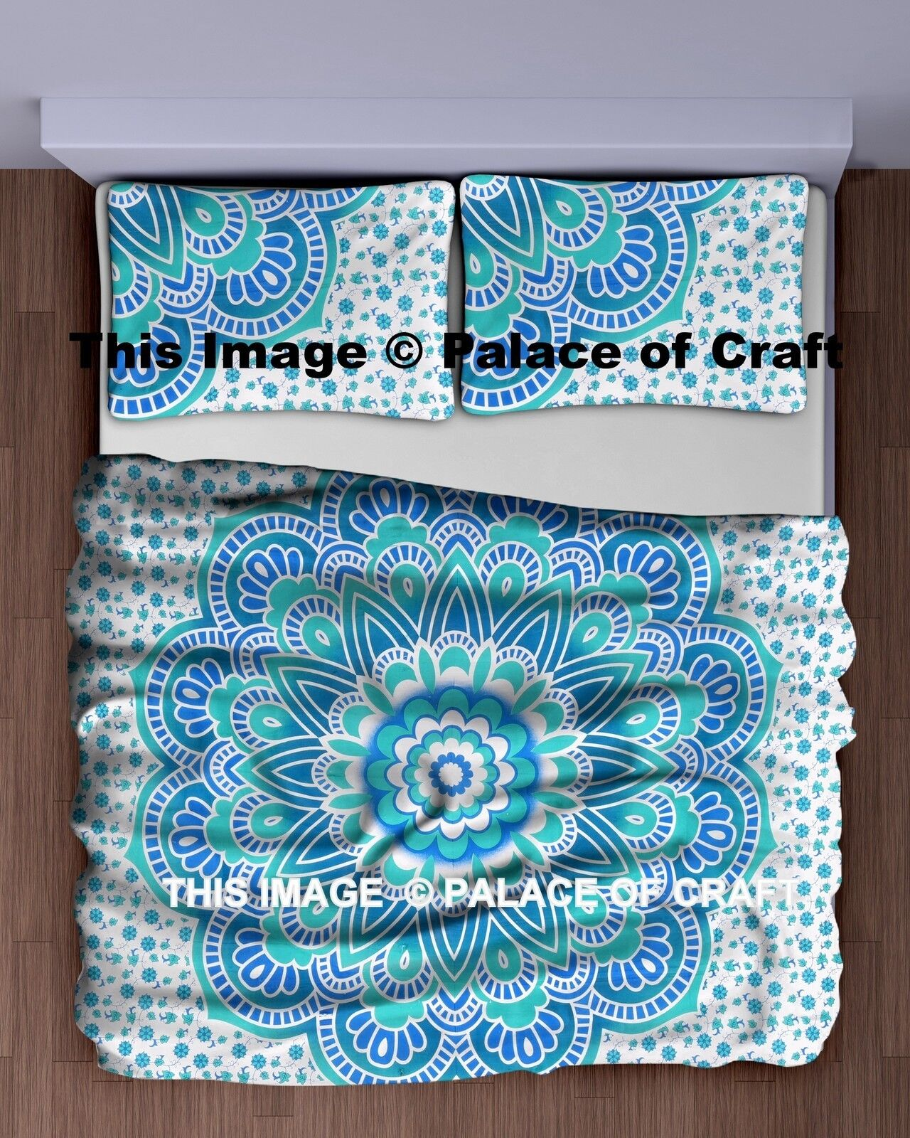 Queen Indian Ombre Mandala Bedspread Bedding Tapestry Throw Sofa Cover Cotton