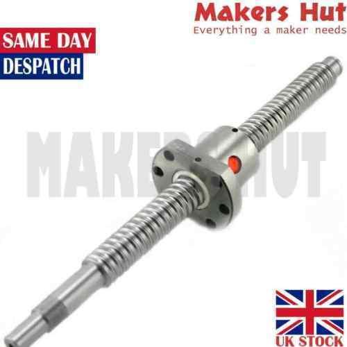 SFU1204 SFU1605 SFU2005 Ballscrew w/ Nut - 300 - 650mm - BK/BF End Machined