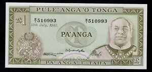 UNC P.19c Tonga 1 Paanga 1987
