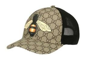 NEW GUCCI CURRENT GG SUPREME BEE WEB DETAIL BASEBALL CAP HAT 59 ... 5ffd4dbbad3
