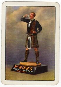 Playing-Cards-1-Single-Card-Old-Wide-McNISH-039-S-Whisky-Advertising-Art-Man-Kilt