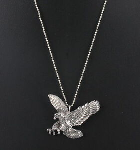 Sterling silver eagle pendant italy 925 ka 1772 chain necklace fine image is loading sterling silver eagle pendant italy 925 ka 1772 aloadofball Choice Image