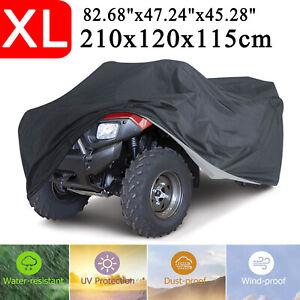 Anti-UV-Schnee Abdeckung für ATV Quad Motorrad Fahrzeuge Zubehör-Silber xxxl