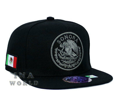 SONORA MEXICAN hat MEXICO Federal State Logo Snapback Flat bill Baseball cap
