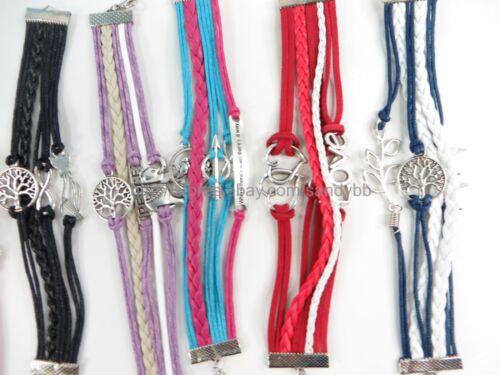 1 $ chacun-US Vendeur 25 pcs Infinity Charm Bracelet de Gros Bijoux Lot