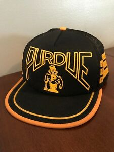 Image is loading Vintage-Purdue-Boilermakers-Baseball-Hat-Cap-3-Stripe- 7a21f5beb8d