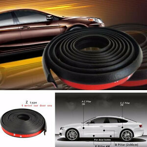 4M-Z-shape-Car-Suv-Door-Window-Rubber-Seal-Weatherstrip-Sealing-Strip-Pad-Black