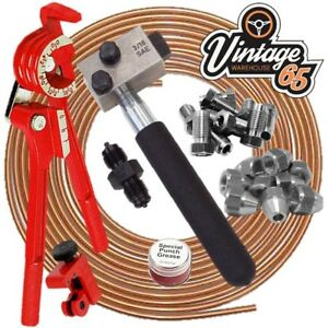 Land-Rover-Series-88-109-3-8-034-Unf-Copper-Brake-Pipe-Line-Repair-Flaring-Kit-SAE