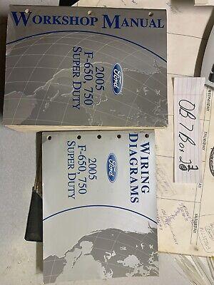2005 Ford F-650, 750 Super Duty Service Manual & Wiring ...