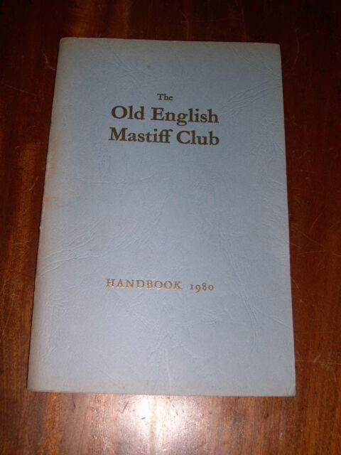 RARE OLD ENGLISH MASTIFF CLUB HANDBOOK DOG BOOK 1ST 1980 BY CLUB ILLUSTRATED