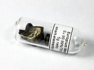 5 grams Europium metal 99.99% sealed in ampoule under argon - Rare earth metal