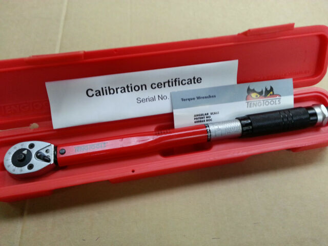 """Teng Tools Torque Wrench 3/8"""" Drive  20 - 110 Nm Calibration Cert. Brand New"""