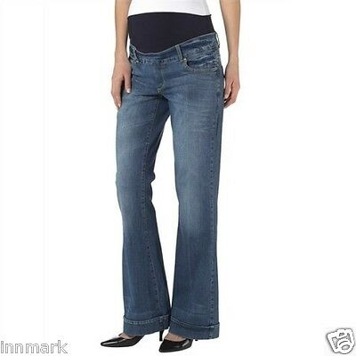 Sportivo 248 Maternity Madre Pantaloni Proppante Belly Jeans Bootcut Breve Incinta Uk 8 - 16-mostra Il Titolo Originale Volume Grande