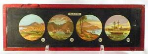 Antique-Glass-Slide-Clipper-Ships-Sailing-Home-Village-Tafel-XII-1880s-AS-IS
