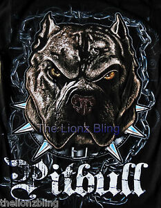 Urban Fashion Team Pitbull The Rude Dog White Short Sleeve T-Shirt  M L XL