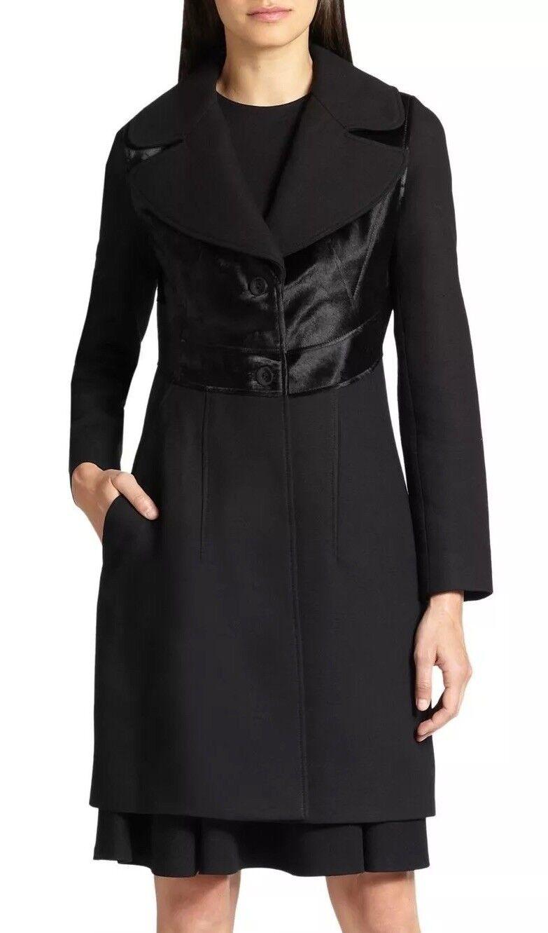 1698.00 NWT Diane von Furstenberg DVF Real Fur Wool Coat Storlek 14 ny