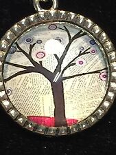 """Tree of Life Winter News Charm Tibetan Silver with 18"""" Necklace A14A"""