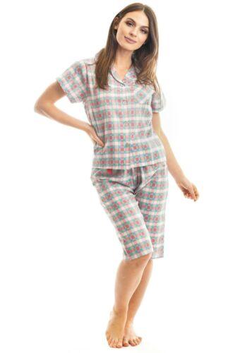 Tuta Donna Pigiama Set di tre quarti cotone estivo abbigliamento Nightwear Pjs