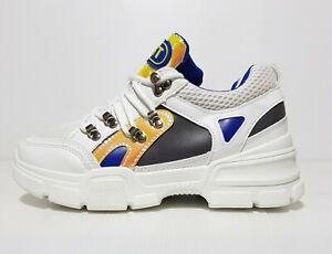 New Women's Chunky Lace Up Sneakers White Sports Shinny EU 37 / US 6.5 / UK 4