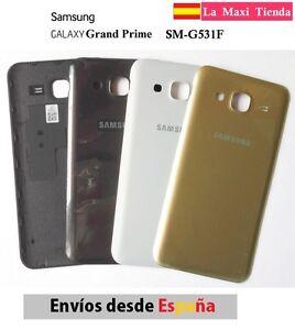 Tapa-Trasera-Bateria-034-Samsung-Galaxy-Grand-Prime-034-Gris-Blanca-Dorada-SM-G531
