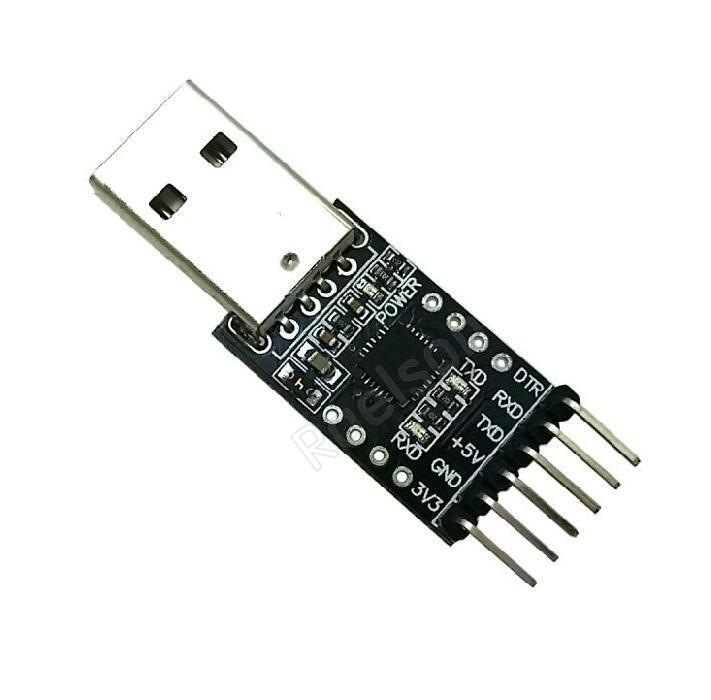 N A 2pcs CP2102 USB 2.0 to TTL Module Serial Converter Adapter Module USB to TTL Downloader with Jumper Wires Compatible with Arduino Raspberry Pi