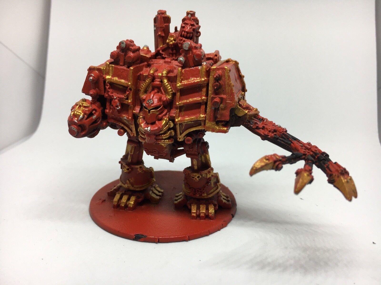 Warhammer 40k Chaos spazio Marine Dreadnought Metal OOP  Hellbrute Citadel Painted  nuovo sadico