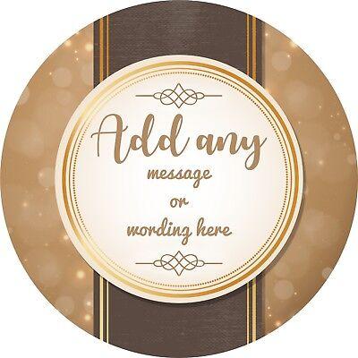 Rispettoso Golden Anniversario Di Matrimonio Adesivo Con Le Etichette Per Party Bag Sweet Coni-mostra Il Titolo Originale