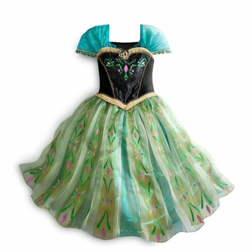 NEW Disney Store Frozen Anna Deluxe Coronation Costume Fancy Dress Size 9//10 NWT