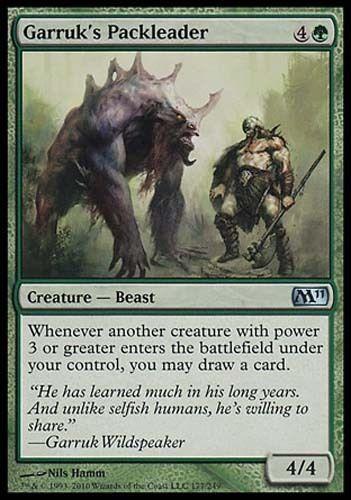4x Garruk/'s Packleader M11 MtG Magic Green Uncommon 4 x4 Card Cards