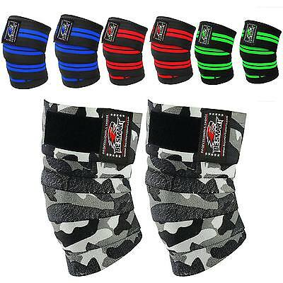 Be Smart Knee Wraps Peso Sollevamento Bandage Cinghie Guard Pads Powerlifting- Imballaggio Di Marca Nominata