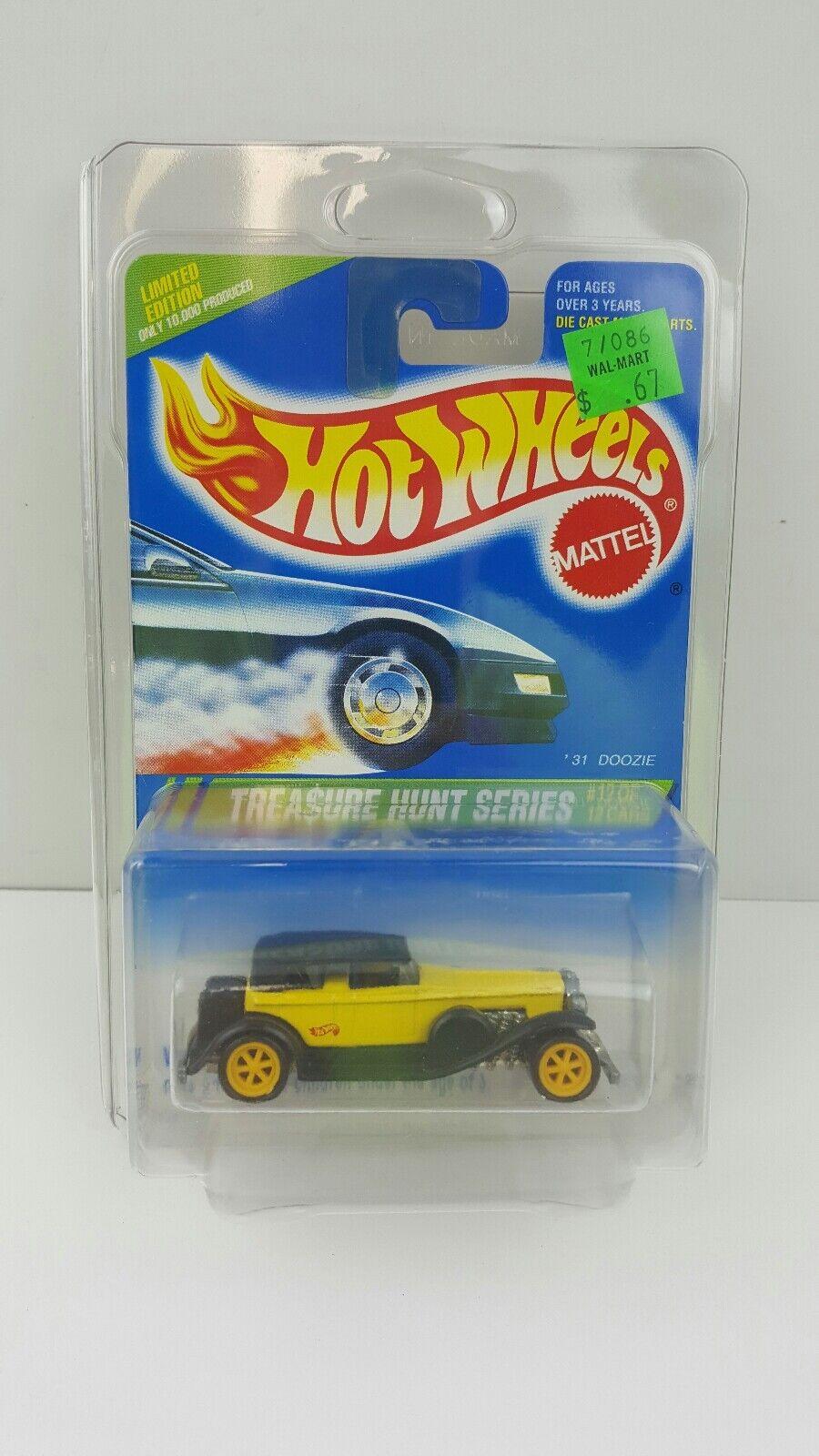 Hot Wheels 1995 búsqueda del tesoro-giallo y nero'31 Doozie con 6 radios de 12