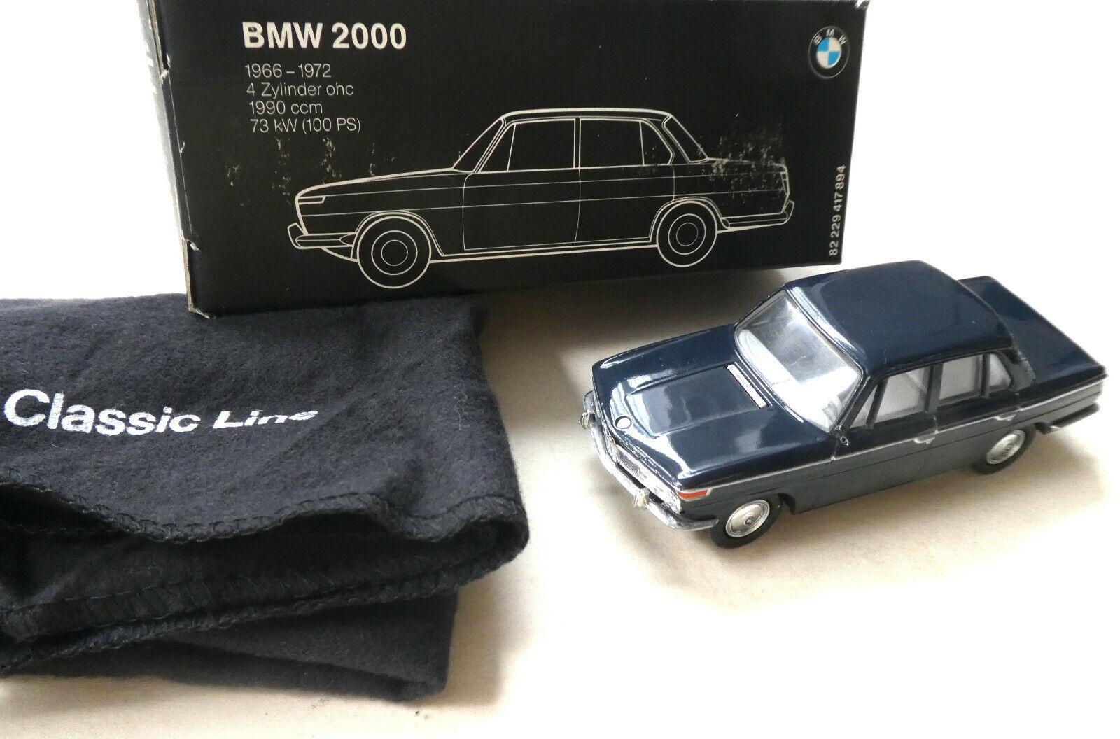 BMW 2000 - 1966 72 - Blau 1 43  Metall von BMW   Schuco in OVP. 3257 xx    Genial Und Praktisch