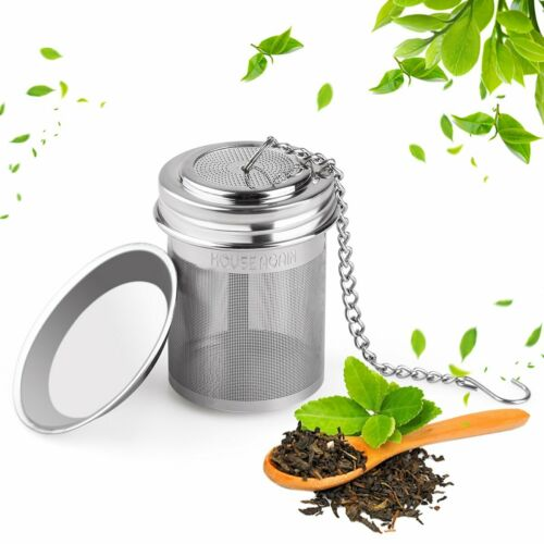 Tea Ball Infuser With Extended Chain Hook Loose Leaf Tea Spices Brewer Cooking