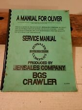 Oliver Bgs Crawler Tractor Service Manual Jensales Reproduction