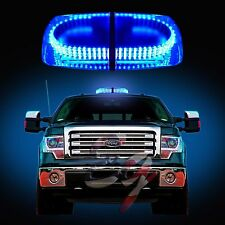 240 LEDs Light Bar Roof Top Emergency  Beacon Warning Flash Strobe Blue