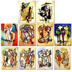 Wall-Art-Canvas-HandPainted-Alfred-Gockel-Abstract-Oil-Painting-Reproduction
