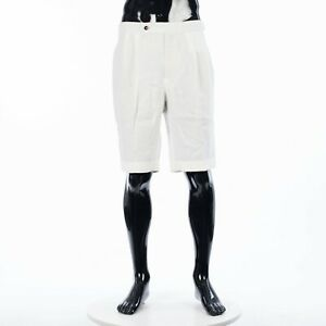 LORO-PIANA-650-Bermuda-Shorts-In-Optical-White-Linen