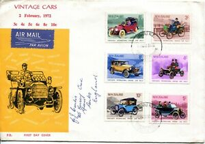 New Zealand 1972 Vintage Cars Fdc Cover Ebay