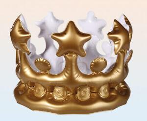 aufblasbare-goldene-Krone-Koenig-Prinz-Prinzessin-Gold-Kroenchen-King-Crown-23cm