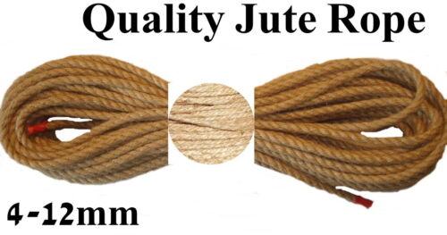jute naturel corde LIGNE CHANVRE écharpe artisanat TORDUE ficelle avec ganse