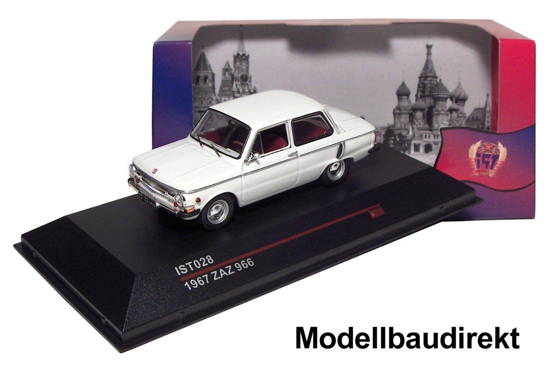 Saporschez ZAZ 966 in Blanc Bj. Bj. Bj. 1967 1 43 Ixo est 028 Cars & Co NOUVEAU & NEUF dans sa boîte b7f6c4