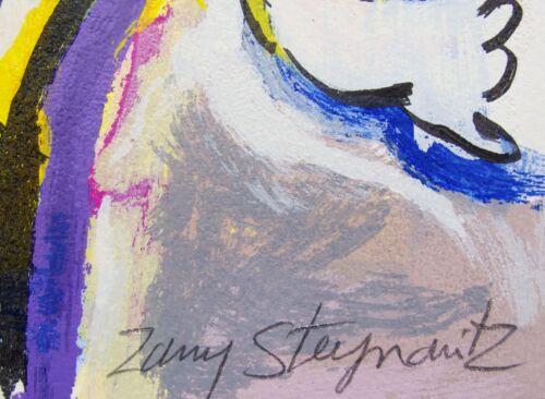 "ZAMY STEYNOVITZ /""PIANO/"" Hand Signed Limited Edition Serigraph Art"